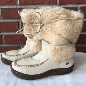 BORN HAND CRAFTED LEATHER SHEARLING BOOTS 9.5